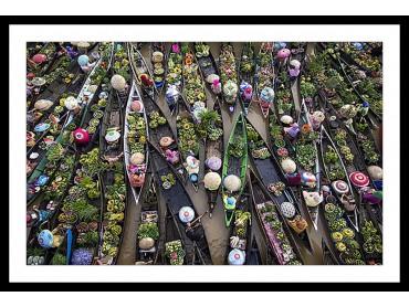 Affiche Paysage Marché flottant