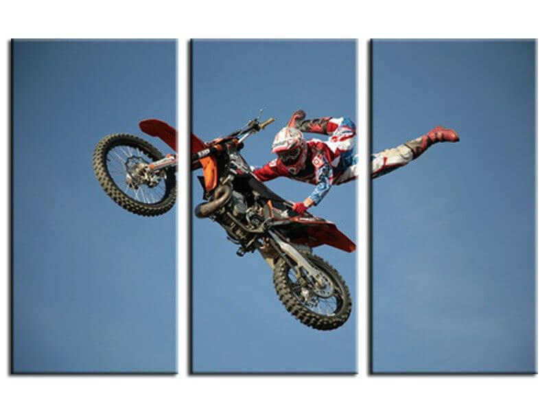 vente en ligne de tableaux superman motocross pas chers. Black Bedroom Furniture Sets. Home Design Ideas