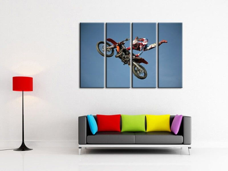 vente en ligne de tableaux superman motocross pas chers sur hexoa. Black Bedroom Furniture Sets. Home Design Ideas