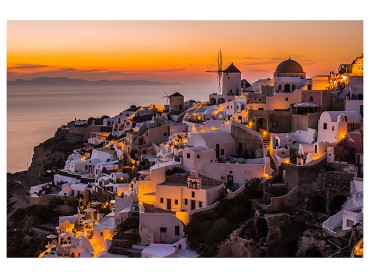 Poster Paysage Santorini By night
