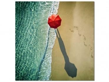 Tableau deco Le parapluie rouge
