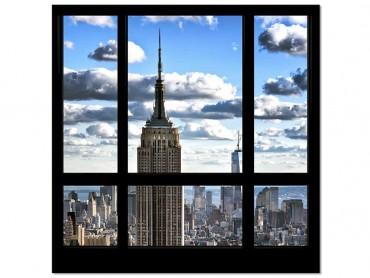 Tableau photo Fenêtre sur Gratte ciel