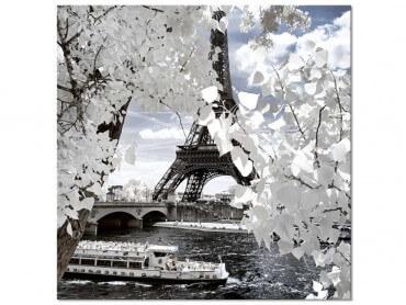 Tableau deco Tour Eiffel fleurie