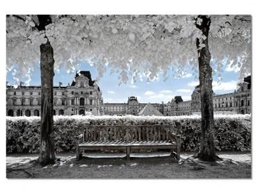 Tableau Paris - Au loin La Pyramide