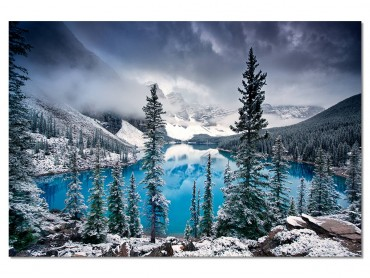 Tableau Paysage Turquoise en montagne