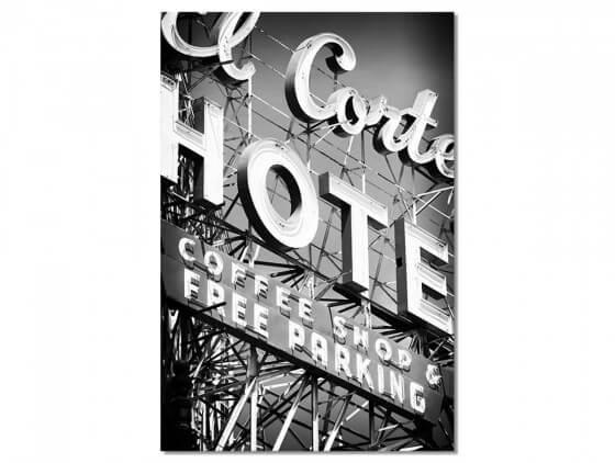 Tableau Photo Motel Black Nevada