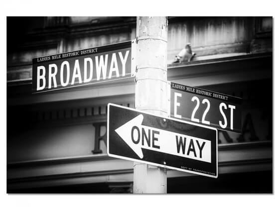 Tableau New York Gros plan sur Broadway