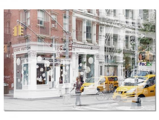 Tableau Deco Vuitton Urban Abstraction