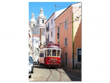 "Tableau Photo Lisbonne ""Tram Rouge"""
