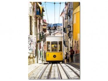 """Tableau Photo Lisbonne """"Tram jaune"""""""
