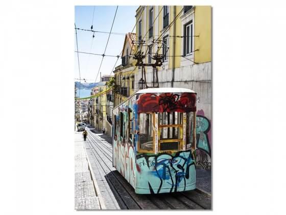 "Tableau Photo Lisbonne ""Tram Street Graffiti"""