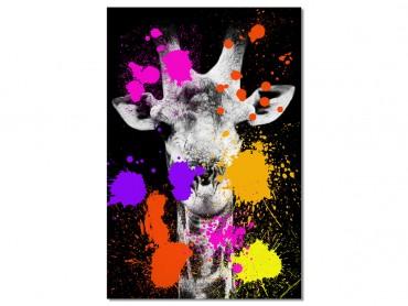 Tableau Animaux girafe Pop Art