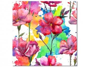Tableau Bouquet De Fleurs Tout En Couleur, 50x50cm