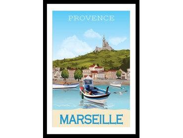 Affiche vintage Le vieux port de Marseille