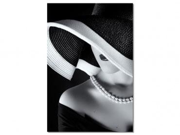 Tableau photo la femme au chapeau