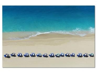 Tableau Paysage Bleu Azur