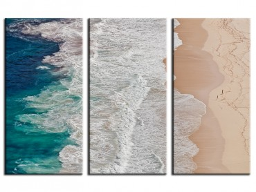Tableau Deco marine au bord des vagues