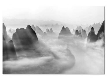 Tableau paysage Yangshuo au matin