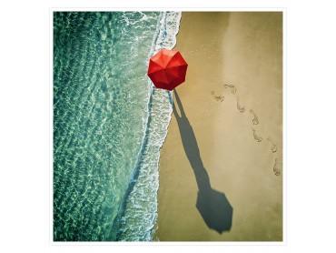 Le parapluie rouge Affiche deco