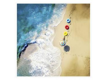 Une bouée à la mer Affiche deco