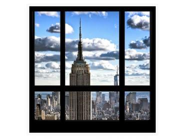 Fenêtre sur Gratte ciel Affiche photo