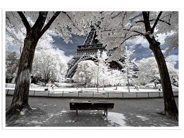 Affiche Paris Immaculée Tour Eiffel