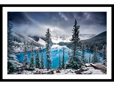 Poster Paysage Turquoise en montagne