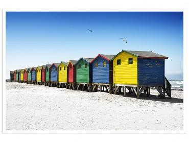 Affiche paysage Muizenberg beach