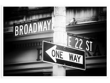 Affiche New York Gros plan sur Broadway