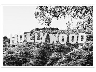 Affiche Deco Hollywood Black California