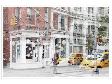 Poster Deco Vuitton Urban Abstraction