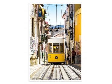 "Poster Photo Lisbonne ""Tram jaune"""