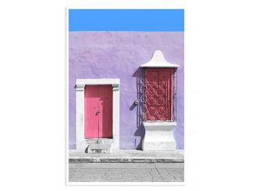 Affiche Photo Mexico Quartier de Guanajuato