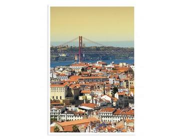 Affiche paysage Lisbonne .. un air de San Fransisco