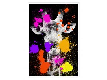 Affiche Animaux girafe Pop Art