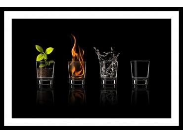 Affiche Cuisine Les 4 éléments