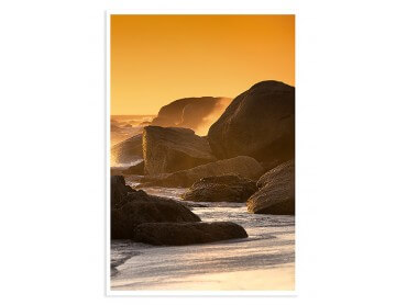 Affiche Photo Coucher de soleil au bout du monde