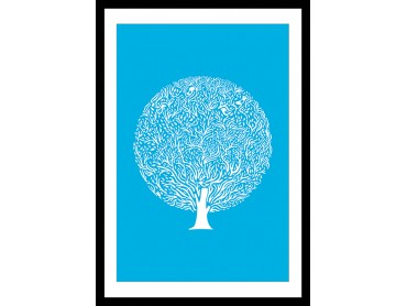 Affiche Illustration L'arbre bleu