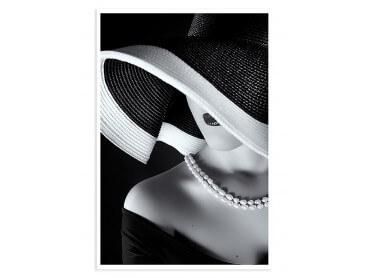 Affiche photo la femme au chapeau