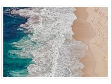 Affiche Paysage Ponton bleu vers l' horizon