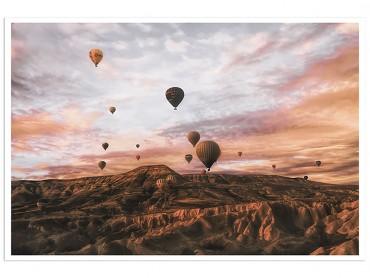 Affiche Paysage montgolfière en Cappadoce