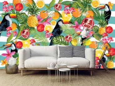 Papier Peint Panoramique Toucan fruité