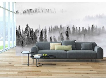 Papier Peint paysage brume sur les cîmes