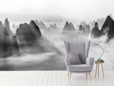 Papier Peint paysage Yangshuo au matin