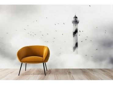 Papier Peint Phare dans le Brouillard