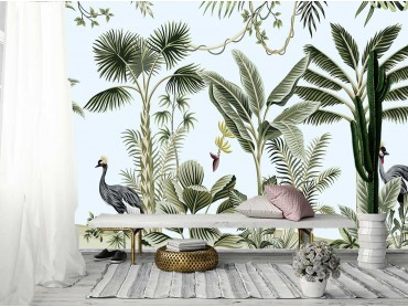 Papier Peint Tropical Birds