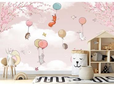 Papier peint Enfant Ballon magique