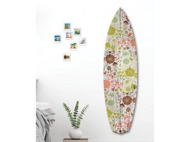 Planche de Surf Fleuri Rétro Fond, 150x40 cm