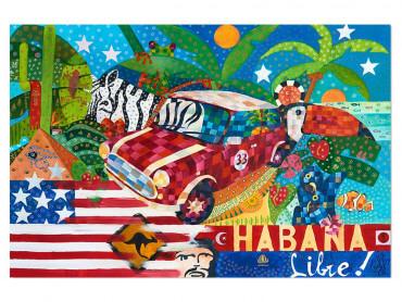 Illustration colorée Ambiance cubaine