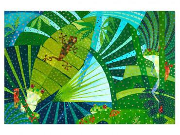 Illustration colorée Costa Rica faune